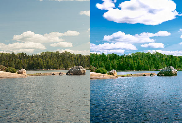 photo retouching / image editing