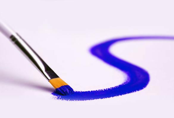 color blue brush