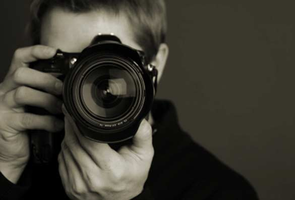 taking a photograph