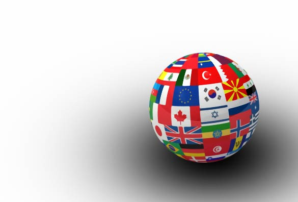 globe featuring world countries