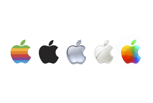 new colored version of apple logo