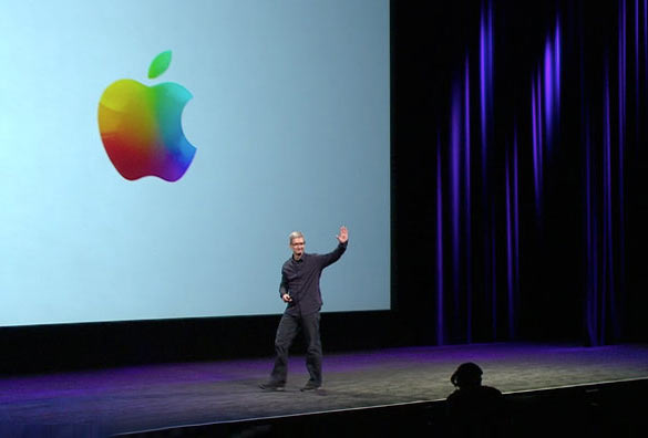apple reveals new colored version of logo
