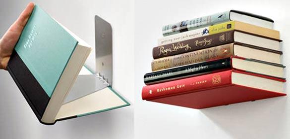 graphic design workspace bookshelf