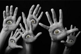 eyes hand design