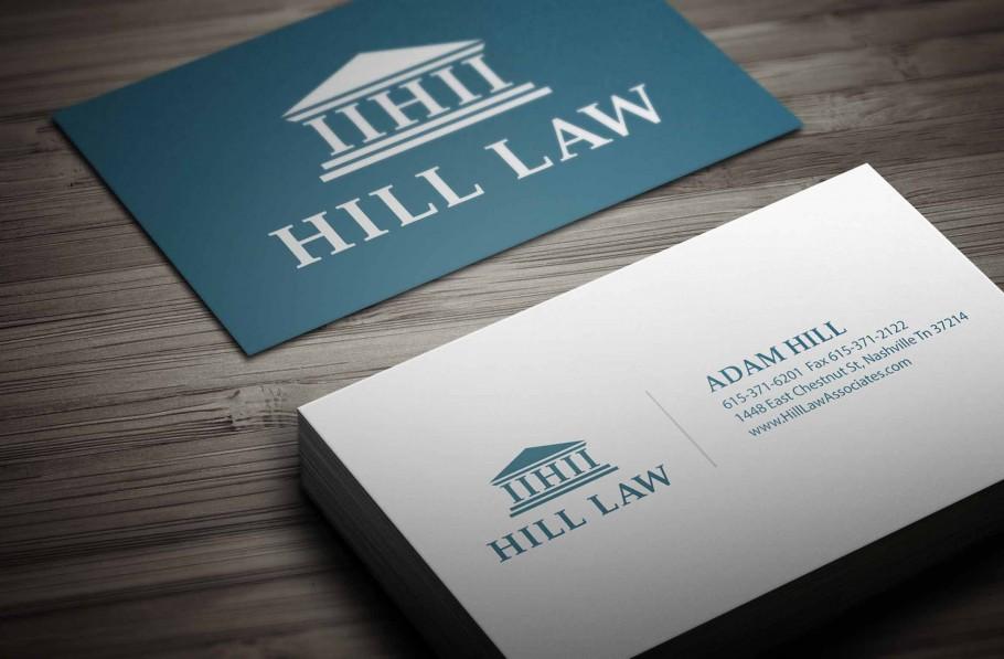 attorney business card design