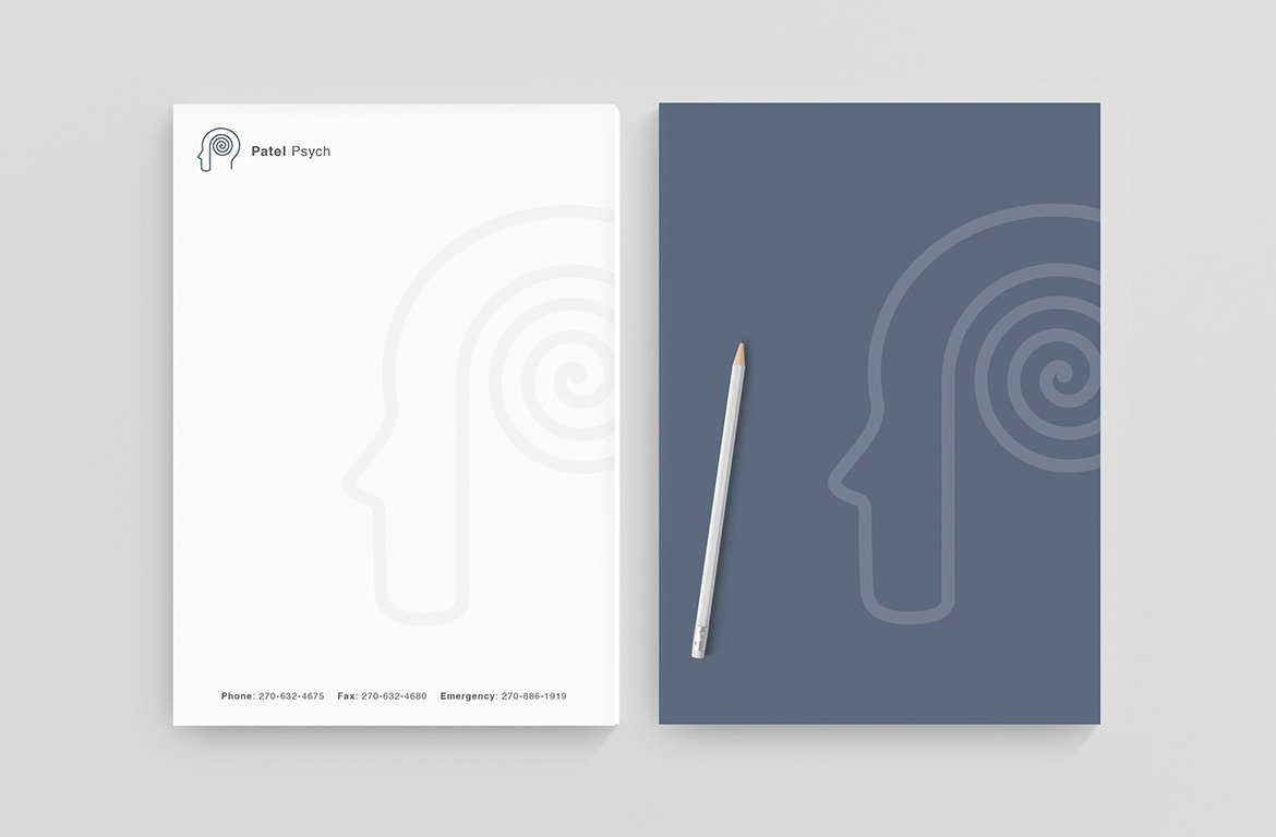 psychiatry letterhead design