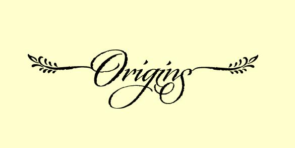 origins script style font