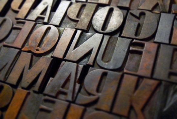 letterpress printing wood blocks