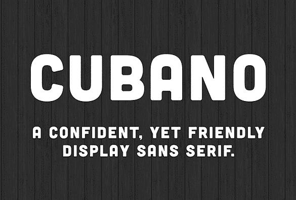 cubano free font