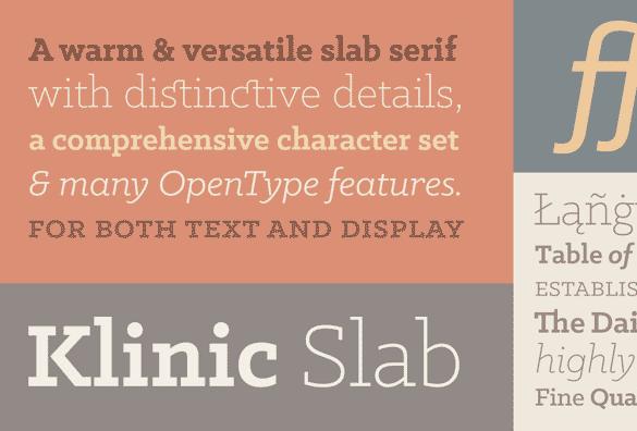 klinic slab free font