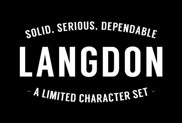 langdon free font