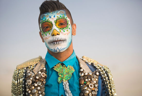 burning man face paint