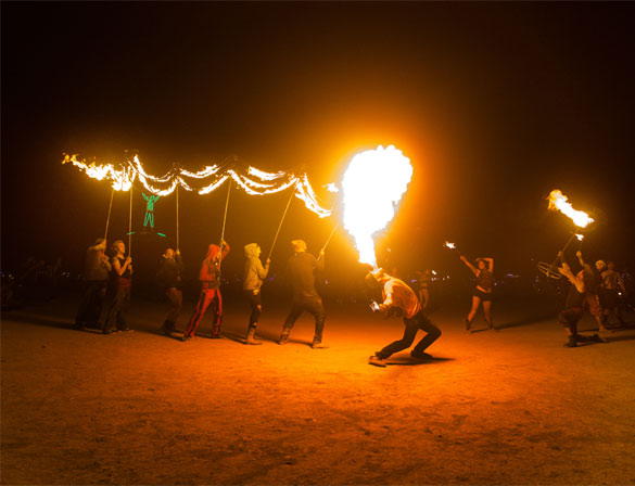 burning man fire breather