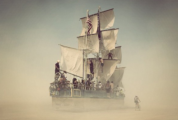 burning man ship