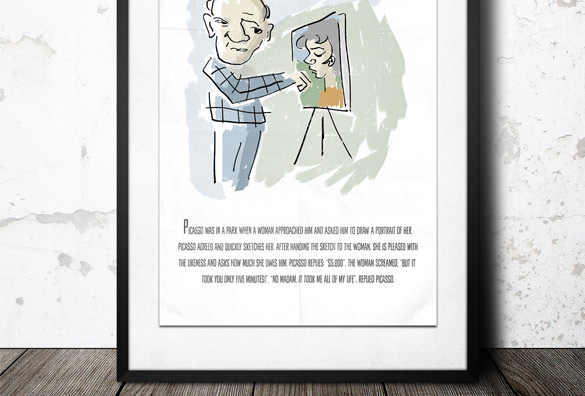 free picasso poster design