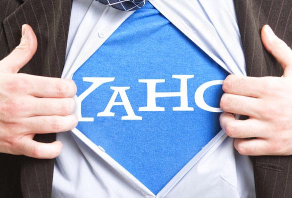 new yahoo logo