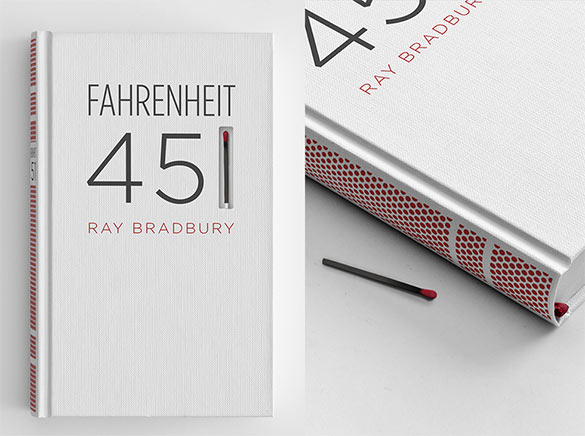 fahrenheit 451 book cover redesign
