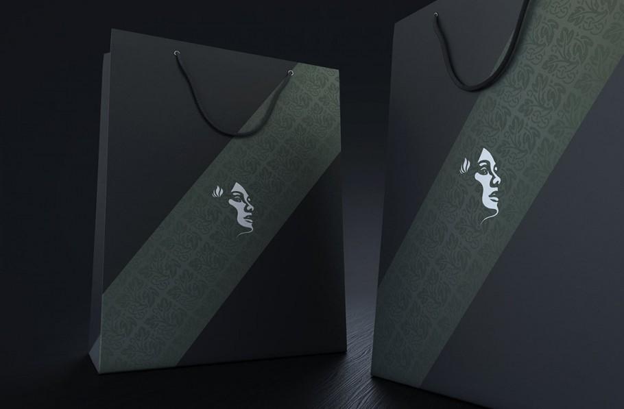 logo on bag