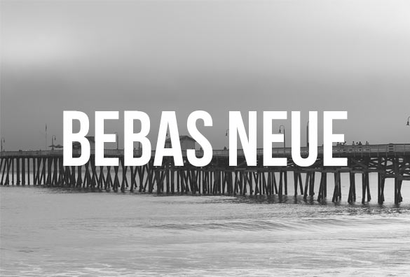 free bebas neue font