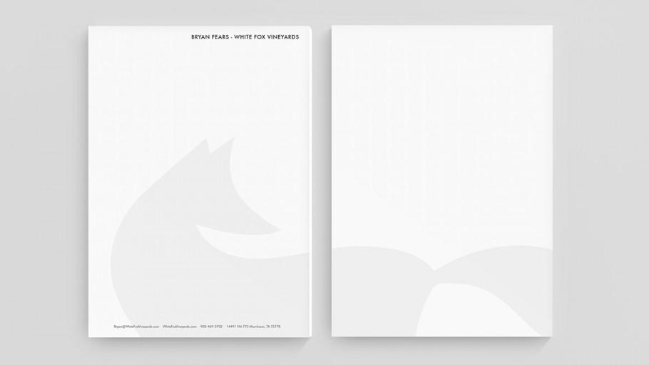 white fox letterhead