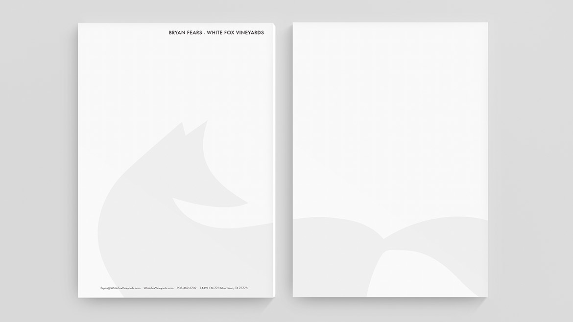 white fox letterhead