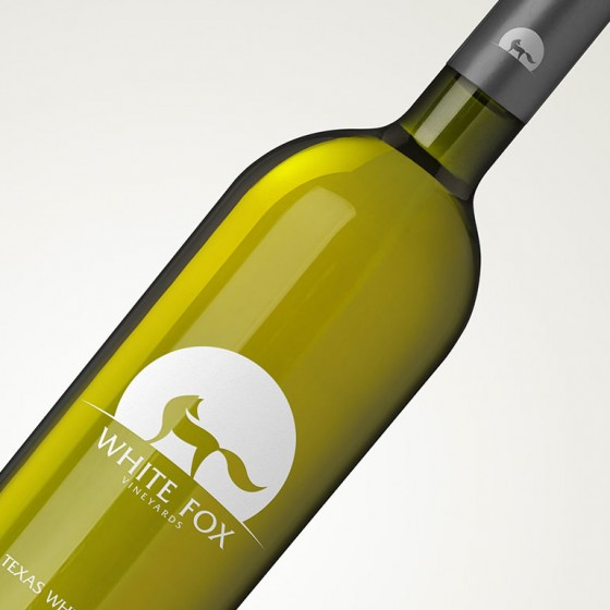 logo on wine bottle