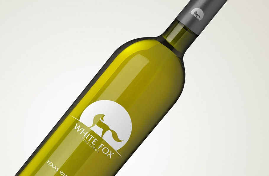 logo on wine bottle
