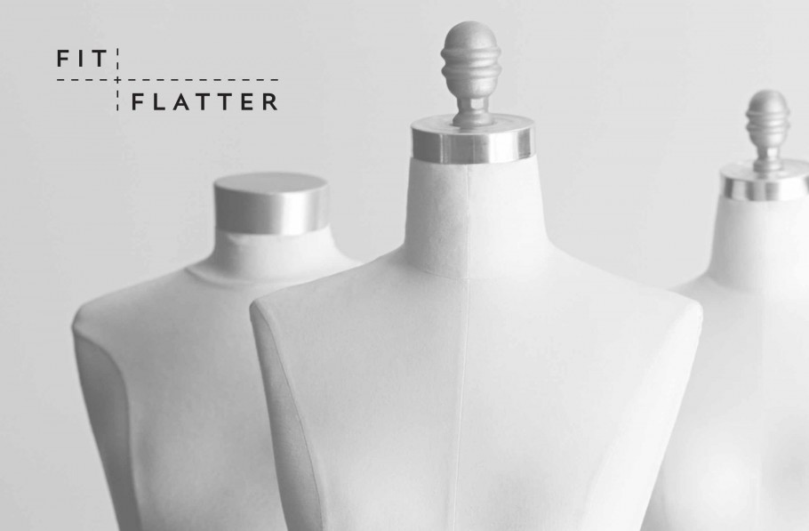 fit flatter logo design
