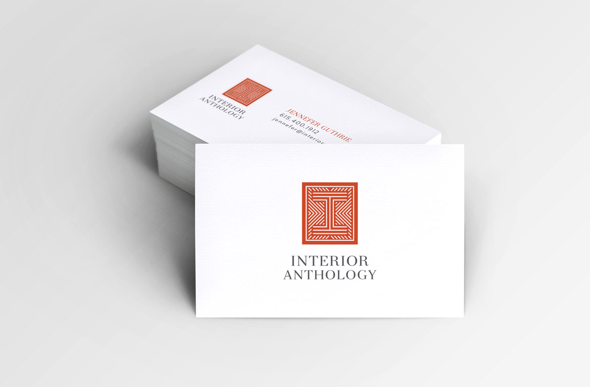 Interior Designer Business Card. Interior Design Logo
