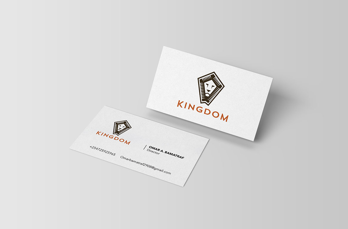 kingdom business card design