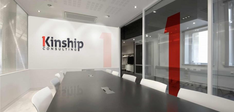 logo on wall