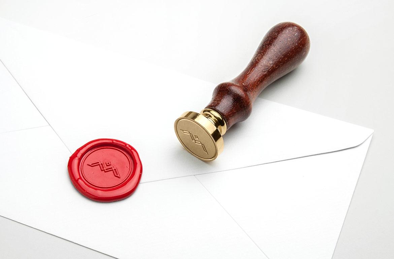 logo wax stamp