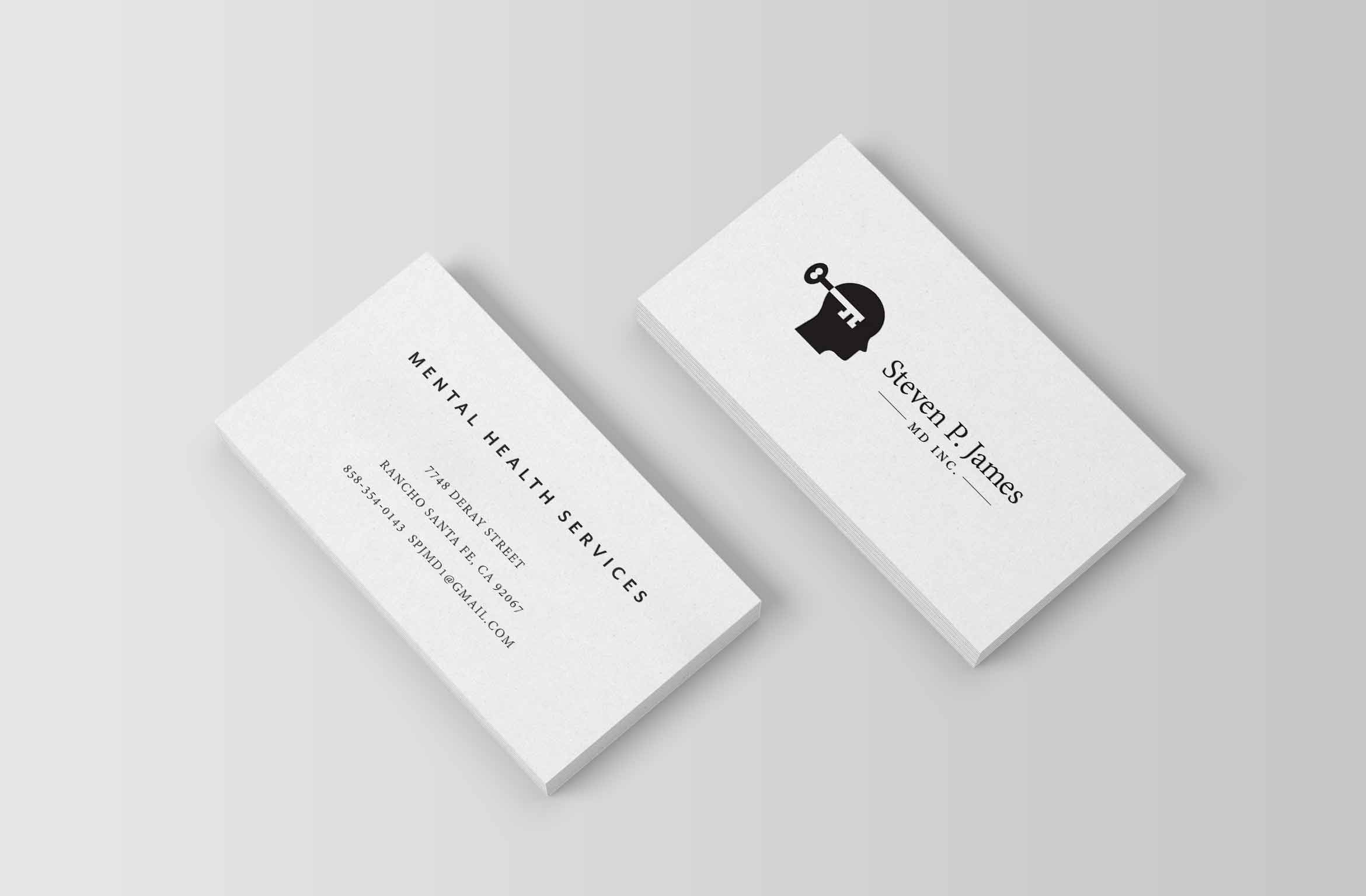 Logo design for california psychiatrist nashville graphic design psychiatry business card colourmoves