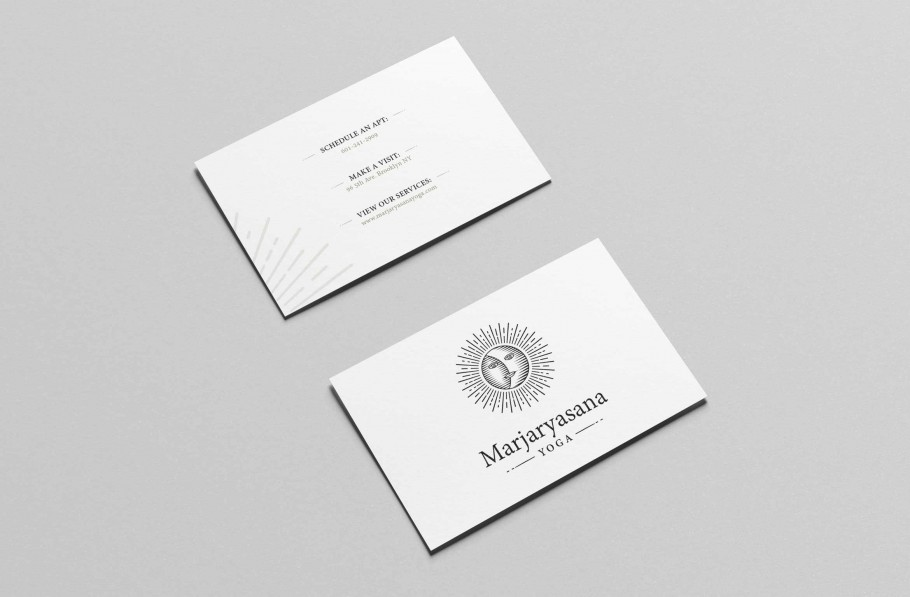 yoga business card