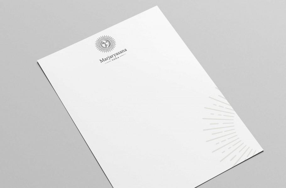yoga letterhead